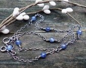 Kyanite sterling silver layering necklace