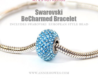Swarovski BeCharmed Pave Crystal Beads with Stainless Steel core. Sold as single from Annie Howes. 80101