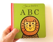 New Jane Foster's ABC pre-school baby board book  -  Scandi retro illustrations Jane Foster - can sign on request
