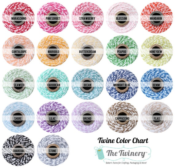 Bakers Twine - Sampler Pack - assorted colors  -- 22 colors