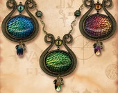 Dragon Egg Amulet Tribal Necklaces - Earth, Fire and Ice - Symbolz The Ancient Mysteries - Dragon Goddess Amulet of Thrones Tribal Necklace