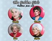The Golden Girls Button Pins 1980s (Set of 4)