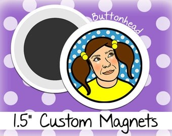 50 Customized Magnets 1.5 Inch (Medium) Round