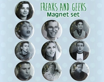 Freaks and Geeks Magnets - Set of 10 Mini - 1990s Bill Haverchuck Seth Rogan Fans and Fan Art