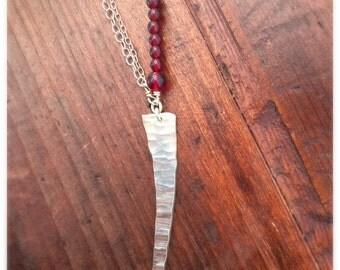 Pomegranate Dagger Necklace