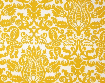 READY TO SHIP yellow amsterdam damask curtains yellow white curtains yellow damask curtains. 26 wide 63 long