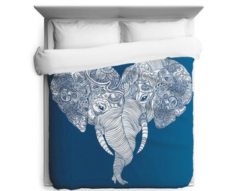 Punch Trunk Love, Elephant, Heart Duvet Cover
