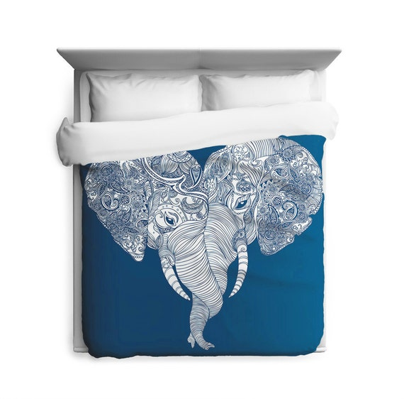 Punch trunk love elephant heart duvet cover for Housse de duvet