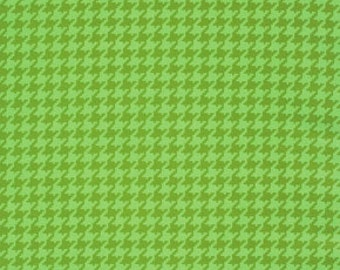 SALE - Ginger Snap - Houndstooth - By Heather Bailey - Green - 7.75 A Yard