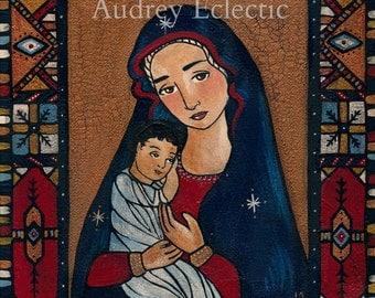 Santa Maria print 8x10 madonna and child