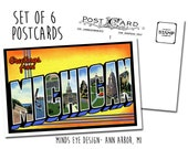 Greetings from Michigan POSTCARDS