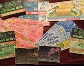 100 Vintage Lottery Tickets