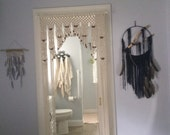 Beaded Arch Curtain  Made in Hand Knotted  Macrame With Tie-Backs