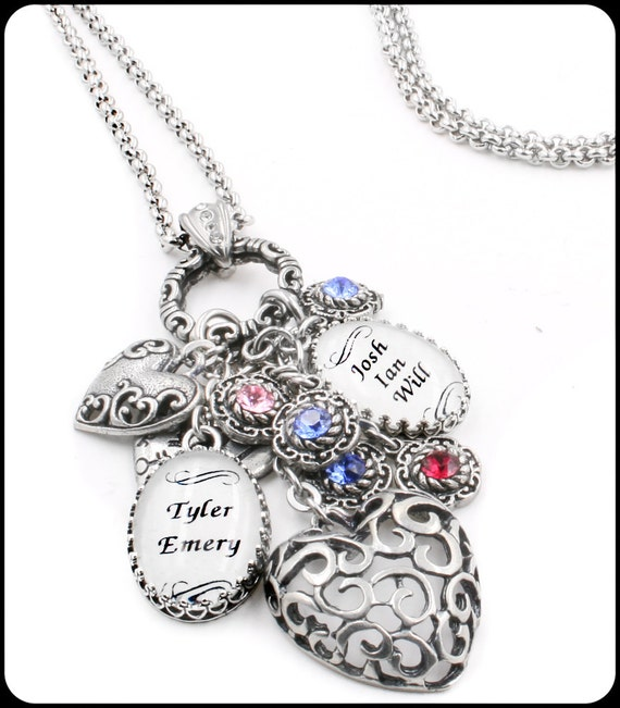 Grandmother jewelry nana birthstone necklace by for Grandmother jewelry you can add to