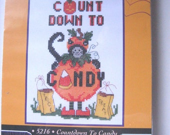 Halloween Cross Stitch Kit Count Down to Candy by Candamar Designs