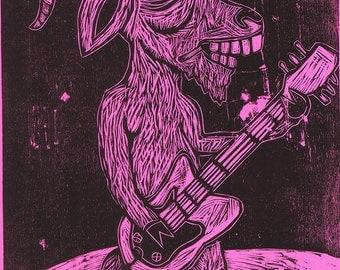 Goat Ar Hero woodcut