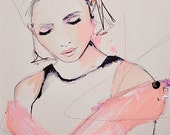 "Fashion Illustration Art Print by Leigh Viner - ""A Collective Sense"""