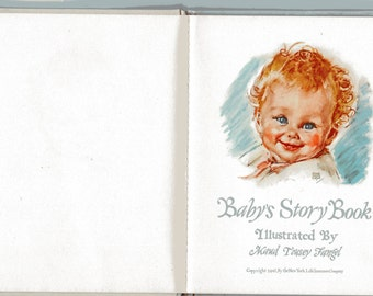 Vintage Baby Book 1942 Baby's Story Book Illustrated by Maud Tousey Fangel Unused No Cover