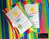 Printable, DIY, Schools Out, Notebook Paper, Sun, Flip flops, girls, Summer, Labels,stickers, Hang Tags, Teacher, children, kids, school