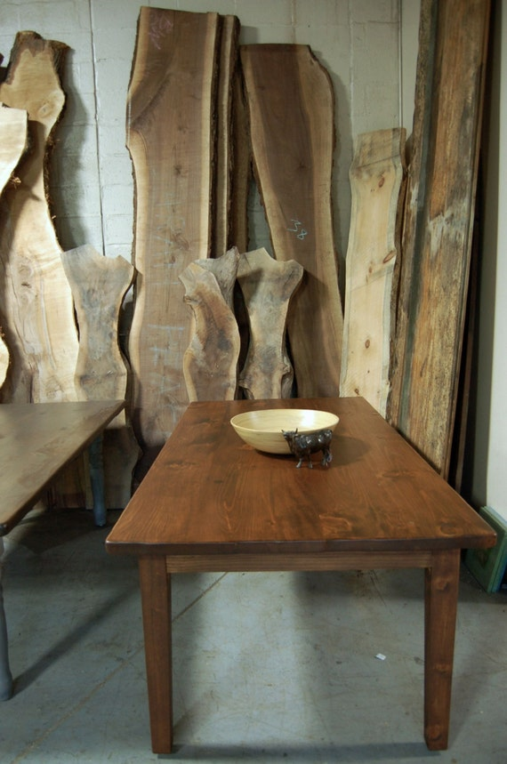 Custom Farm Table with Tapered Legs
