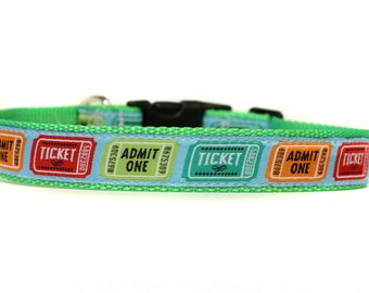 1 Inch Wide Dog Collar with Adjustable Buckle or Martingale in Ticketed