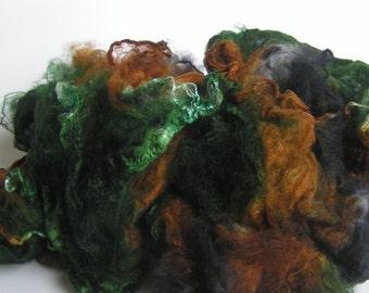 Mawata Silk Hankies Hand Painted ELEMENTAL Knitpack 42 grams Silk Hanky  Knit Spin Felt Fusion Crafts