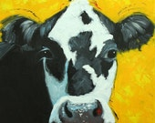 Cow painting 993 20x20 inch animal original oil painting by Roz