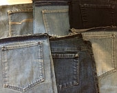 Pockets, Reclaimed Blue Jean Pockets to Repurpose