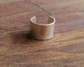 Wide Sterling Silver Toe Ring with initial