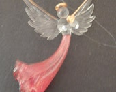 Vintage Beautiful Silvestri Glass Angel - To Hang