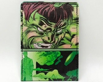 Sewn Comic Book Wallet - The Hulk Design 23