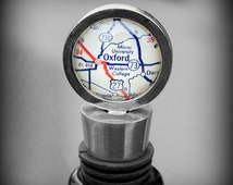 Miami University Ohio Map Wine Stopper - Vintage Oxford Map Bottle Stopper - Great Alumni Gift