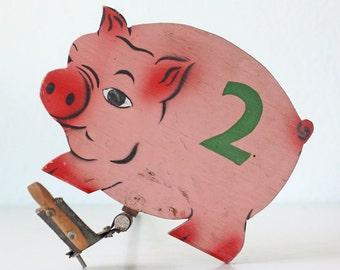 Vintage Pig Carnival Game - Pig Number 2