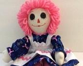 "Breast Cancer Awareness Raggedy Ann Doll 15"""