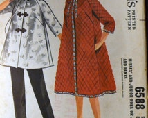 Vintage 60's Sewing Pattern McCall's 6588 Misses Robe and Pants Bust 32 inches Complete