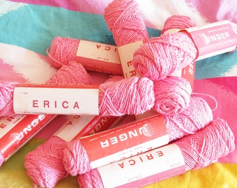 Happy Pink Heaven...Fun Vintage Italian Yarn...Cotton/Linen
