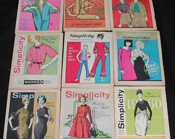 Original Mod Modern MCM 1960s Simplicity Fashion Preview of Pattern Booklets 9 Paper Ephemera