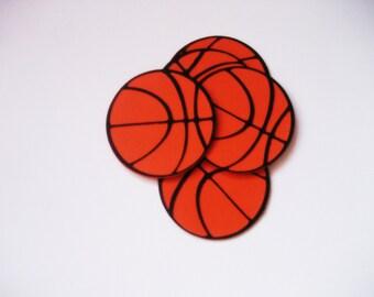 Basketball Die Cuts-Basketball Paper Die Cuts-Paper Basketballs-Basketball Confetti-Basketball Invitations-Scrapbook Supplies