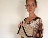 Vintage Clutch Handbag,  Fabulous Italian Design Fabric Purse Handbag
