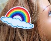 Rainbow Cloud Hair Clip MTCoffinz - Custom Name Option