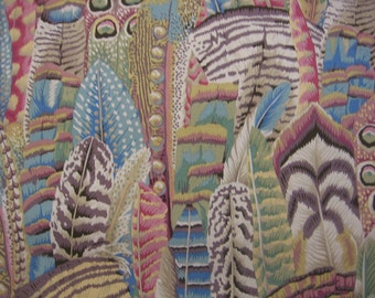 """1 yd. Kaffe Fassett collection, Feathers in """"soft"""" colorway"""