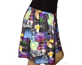 Dave Mathews Band Skirt, DMB scarves, mini skirt, Festival skirt, Women's skirt, short skirt, DMB skirt, DMB scarf, summer skirt