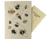 bee card with wild flower seed inside