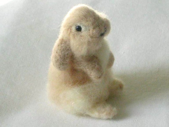 Needle Felted Animal / Rabbit / Lop earred / Buttercup / soft cashmere by Gourmet Felted