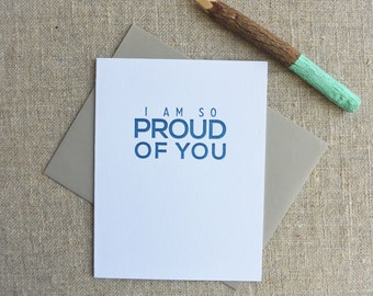 Letterpress Greeting Card - Milestone - I Am So Proud of You - MLS-091