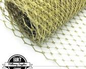 Metallic Gold  - French - Russian - Veiling - Netting - 1 Yard