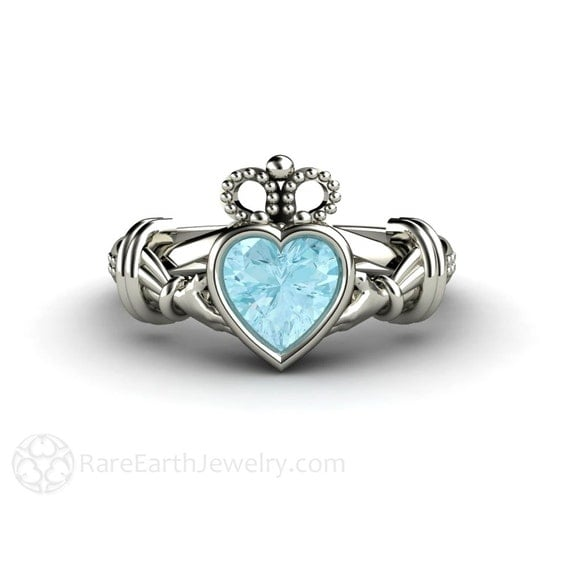 claddagh ring engagement ring promise ring by rareearth