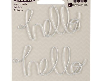 HELLO- Mix The Media Wire Words 2/Pkg