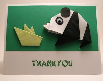 Origami Panda Thank You Card