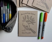 Coloring Book, Birds of the Pacific Northwest, Bird Coloring Book, Tiny Coloring Book, Adult Coloring Book, Birds, Woodland, Gift for Birder